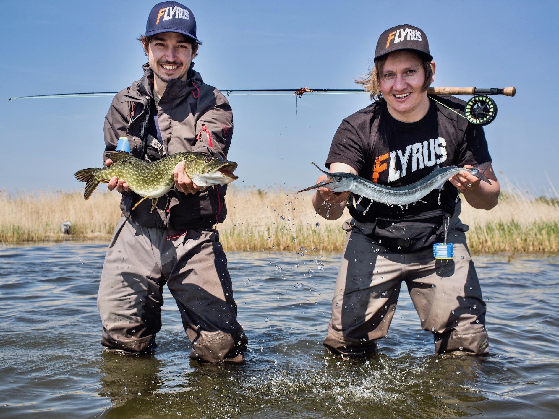 Hecht und Hornhecht Fliegenfischen mit Streamer