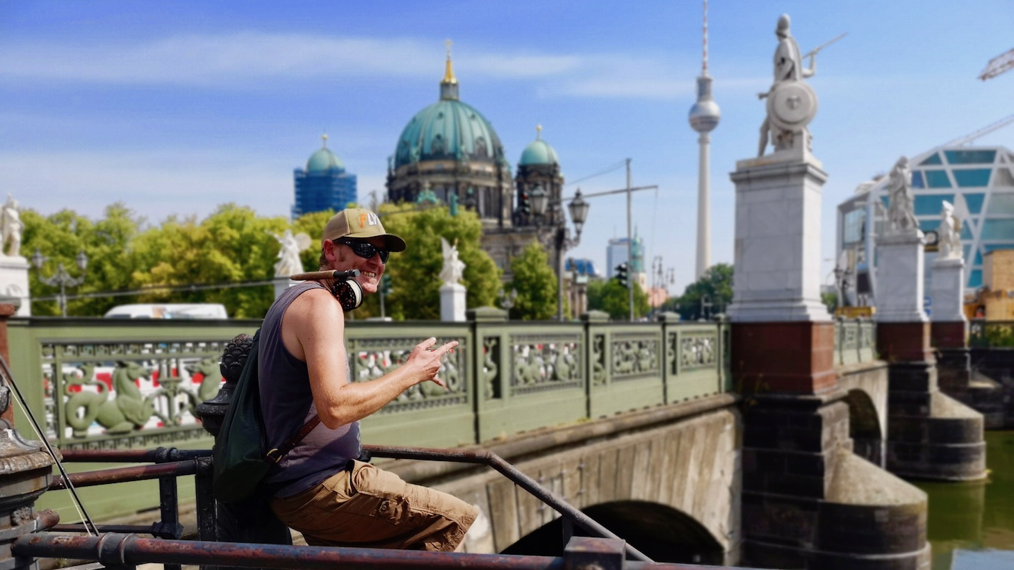 Berlin fly fishing, fly fishing Germany, urban fly fishing