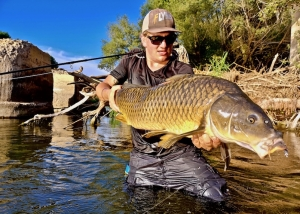 fly fishing carp, fly fishing spain