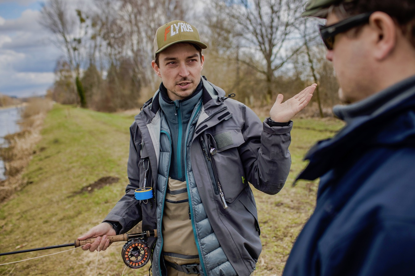 fly fishing course Germany, flyrus