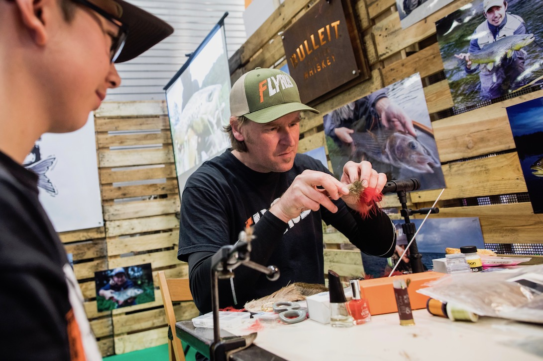 Germany fly tying courses, flyrus, angelwelt messe Berlin
